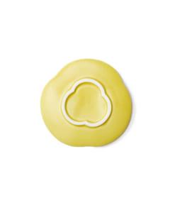 Teshioの黄色い豆皿裏面