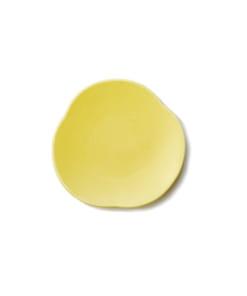 Teshioの黄色い豆皿表面