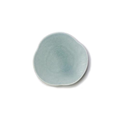 Teshioの青い豆皿表面