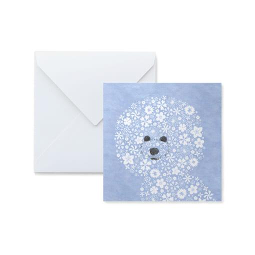 犬のイラストのメッセージカード