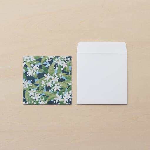 花柄のメッセージミニカード