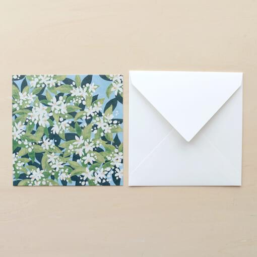 花柄のメッセージカード
