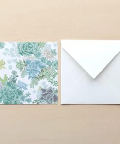 多肉植物柄のメッセージカード