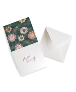 花柄のメッセージカードhappybirthday