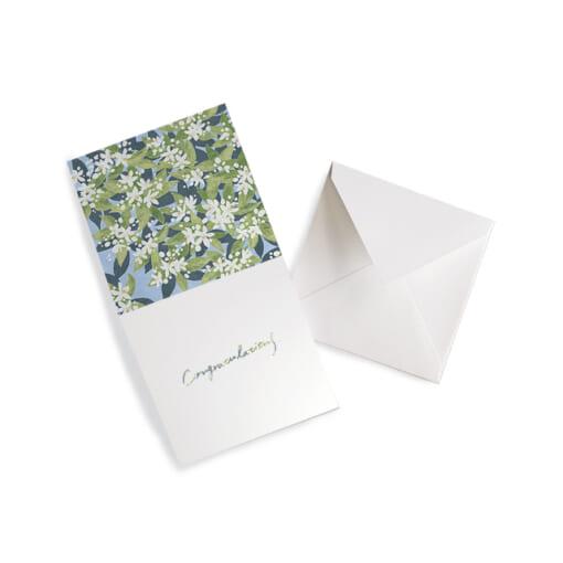 花柄のメッセージカードcongratulations