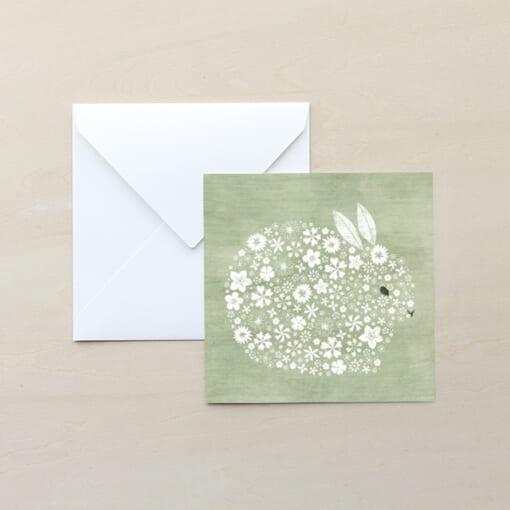 うさぎのイラストのメッセージカード
