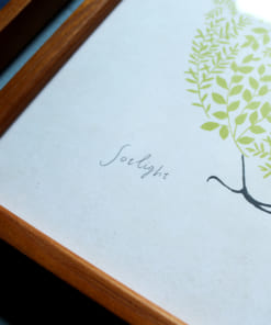 sotlightのアートフレームに入れたサイン