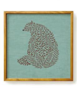 クマのポスターフレーム